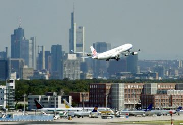 Reach the sky of Frankfurt when standing on the ground